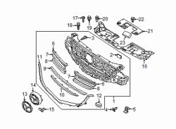 Mazda CX-5 Right Lower molding bracket | Mazda OEM Part Number KA0G-50-154A