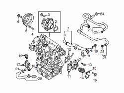 Mazda CX-5  Thermostat hsng gasket | Mazda OEM Part Number PE01-15-169