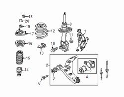 Mazda CX-5 Right Spring | Mazda OEM Part Number KD35-34-011C