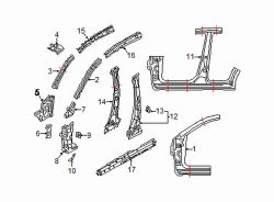 Mazda CX-5 Left Center plr reinf | Mazda OEM Part Number KD53-71-360A