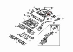Mazda CX-5  Support panel | Mazda OEM Part Number KD53-53-71XC