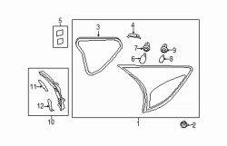 Mazda CX-5 Right Support bracket cap | Mazda OEM Part Number KD53-51-3H5