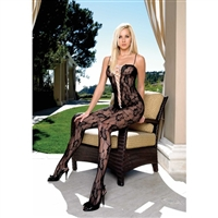 Lace Crotchless Bodystocking * 8468
