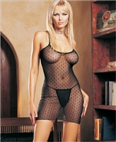 Lace Criss Cross Back Dress With G-String * 86007
