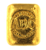 Australian Bullion Company & Hillend 1 Ounce Cast 24 Carat Gold Bullion Bar 999.9 Pure Gold