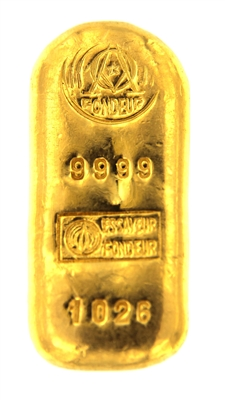 Argor S.A Chiasso 50 Grams Cast 24 Carat Gold Bullion Bar 999.9 Pure Gold