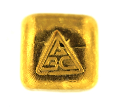 Ainslie Bullion Company 1 Ounce Cast 24 Carat Gold Bullion Bar 999.9 Pure Gold