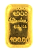 A. Afinadora Portugal 100 Grams Cast 24 Carat Gold Bullion Bar 999.9/1000 Pure Gold