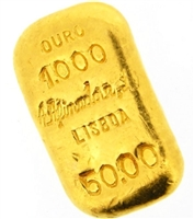 A. Afinadora Portugal 50 Grams Cast 24 Carat Gold Bullion Bar 999.9/1000 Pure Gold