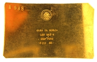 Casa De Moneda, Mexico 500 Grams 24 Carat Gold Bullion Bar 997.4 Pure Gold