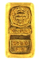Comptoir Lyon Alemand Louyot & Cie Paris 10 Tolas (116.6 Gr.) Cast 24 Carat Gold Bullion Bar 999.0 Pure Gold