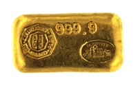 Comptoir Lyon Alemand Louyot Paris 50 Grams 24 Carat Gold Bullion Bar 999.9 Pure Gold