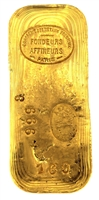 Compagnie des Métaux Précieux 500 Grams Cast 24 Carat Gold Bullion Bar 999.8 Pure Gold with Assay Certificate (1937)