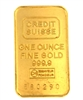 Credit Suisse & National Bank of Abu Dhabi 1 Ounce Minted 24 Carat Gold Bullion Bar 999.9 Pure Gold