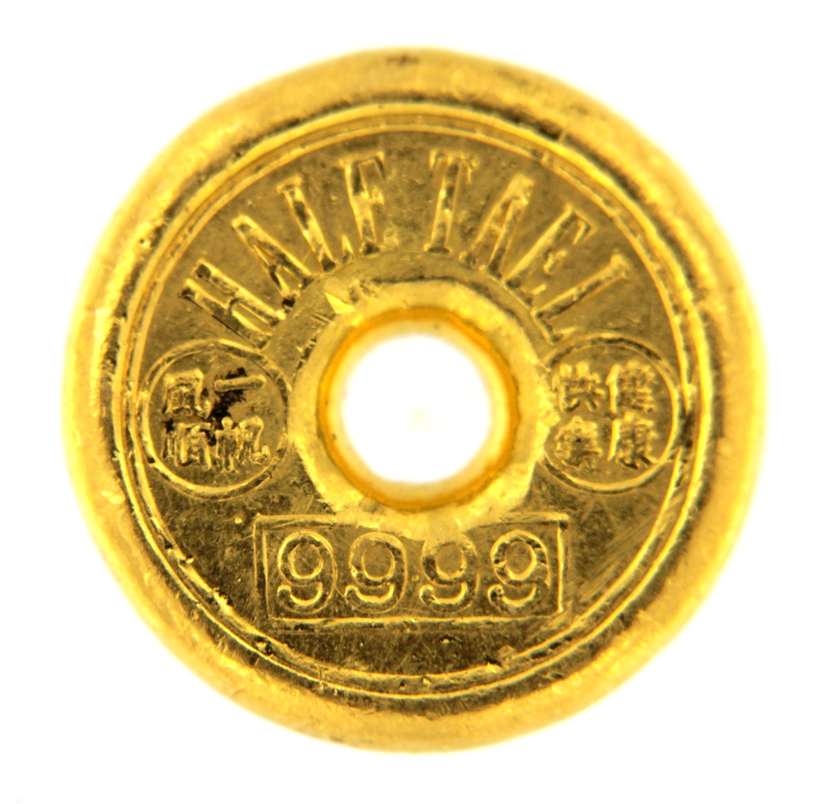 Chow Tai Hong Kong 1 2 Tael 18 71 Gr Cast 24 Carat Gold Bullion Doughnut