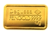 Degussa & Deutsche Bank 10 Grams 24 Carat Gold Bullion Bar 999.9 Pure Gold
