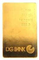 DG Bank 1 Ounce Minted 24 Carat Gold Bullion Bar 999.9 Pure Gold
