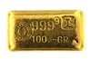 Drijfhout Amsterdam 100 Grams Cast 24 Carat Gold Bullion Bar 999.9 Pure Gold