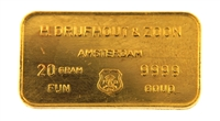 Drijfhout Amsterdam 20 Grams 24 Carat Gold Bullion Bar 999.9 Pure Gold