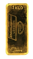 Engelhard London - Mocatta & Goldsmid Ltd - 1 Kilogram Cast 24 Carat Gold Bullion Bar 999.9 Pure Gold
