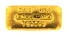Engelhard 100 Grams (3.215 Oz.) Cast 24 Carat Gold Bullion Bar 999.0 Pure Gold