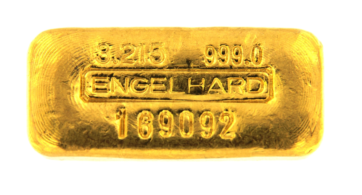 Engelhard 100 Grams 3 215 Oz Cast 24 Carat Gold Bullion