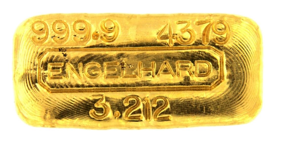 Cast 24 Carat Gold Bullion Bar