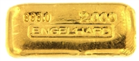 Engelhard 2 Ounces Cast 24 Carat Gold Bullion Bar 999.0 Pure Gold