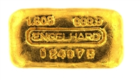 Engelhard 50 Grams (1.608 Oz.) Cast 24 Carat Gold Bullion Bar 999.9 Pure Gold
