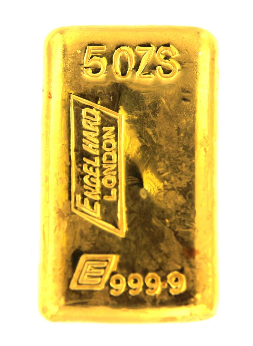 Cast 24 Carat Gold Bullion Bar 999 9