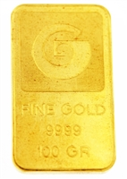 Generale Bank & Johnson Matthey 100 Grams Minted 24 Carat Gold Bullion Bar 999.9 Pure Gold