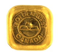 Golden West Canada 1 Ounce Cast 24 Carat Gold Bullion Bar 999.9 Pure Gold