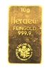 Heraeus Edelmetalle GmBh 10 Grams 24 Carat Gold Bullion Bar 999.9 Pure Gold