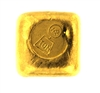 Harringtons Metallurgists 1 Ounce Cast 24 Carat Gold Bullion Bar 999.9 Pure Gold