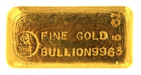 Harringtons Metallurgists 5 Ounces Cast 24 Carat Gold Bullion Bar 996.3 Pure Gold