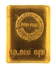 Hoover & Strong 10 Ounces Cast 24 Carat Gold Bullion Bar 999 Pure Gold