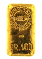 Intermetal S.P.A Roma 100 Grams Cast 24 Carat Gold Bullion Bar 999.9 Pure Gold