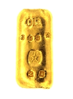 J. A. REY & Co 25 Grams Cast 24 Carat Gold Bullion Bar 999.9 Pure Gold
