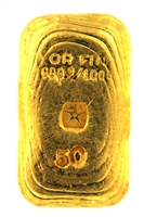 J. A. REY & Co 50 Grams Cast 24 Carat Gold Bullion Bar 999.8/1000 Pure Gold