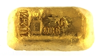 Jean Boudet 1003,3 Grams Cast 24 Carat Gold Bullion Bar 996.6 Pure Gold with Assay Certificate (1949)