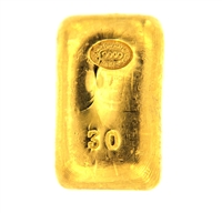 Johnson Matthey & Pauwels 30 Grams Cast 24 Carat Gold Bullion Bar 999.9 Pure Gold