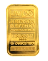 Johnson Matthey 1/2 Ounce Minted 24 Carat Gold Bullion Bar 999.9 Pure Gold