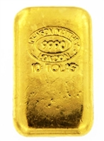 Johnson Matthey 10 Tolas (116.6 Gr.) Cast 24 Carat Gold Bullion Bar 999.0 Pure Gold