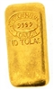 Johnson Matthey 10 Tolas (116.6 Gr.) Cast 24 Carat Gold Bullion Bar 999.9 Pure Gold