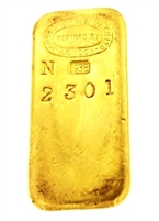 Johnson Matthey & Co Ltd 1 Kilogram Cast 24 Carat Gold Bullion Bar 996.0 Pure Gold with Assay Certificate (1938)