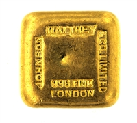 Johnson Matthey 5 Tolas (58.3 Gr.) Cast 24 Carat Gold Bullion Bar 996.0 Pure Gold