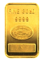 Johnson Matthey & Pauwels - Banque Générale 5 Grams Minted 24 Carat Gold Bullion Bar 999.9 Pure Gold