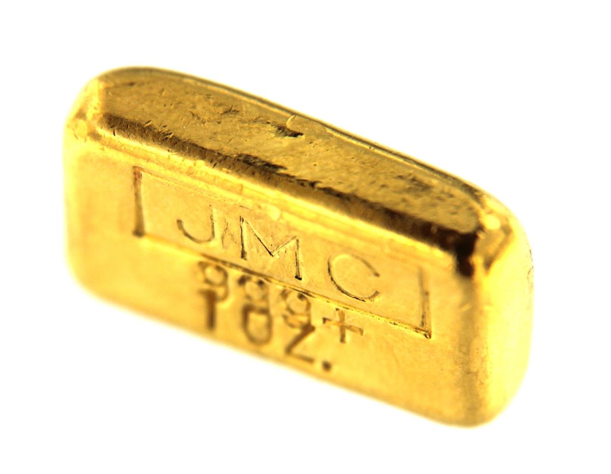 Johnson Matthey, Canada & Tucson Gold Mines 1 Ounce Cast 24 Carat Gold  Bullion Bar 999 Pure Gold