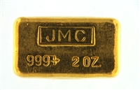 Johnson Matthey, Canada & Tucson Gold Mines 2 Ounces Cast 24 Carat Gold Bullion Bar 999 Pure Gold