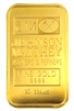 Johnson Matthey & Kredietbank Luxembourg 20 Grams Minted 24 Carat Gold Bullion Bar 999.9 Pure Gold